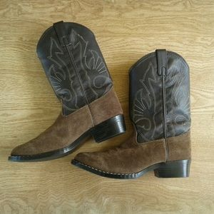 Masterson & Co. Shoes - Brown leather western boots sz 4
